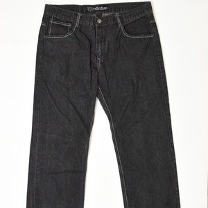 South Pole Black 40 Relaxed Fit Cotton Solid